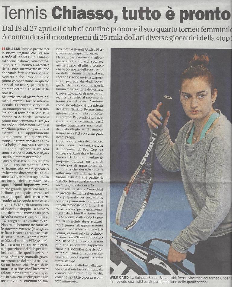 Corriere del Ticino2014