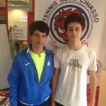a sinistra Matteo Piras finalista e Milo Cavadini Vincitore U16 maschile